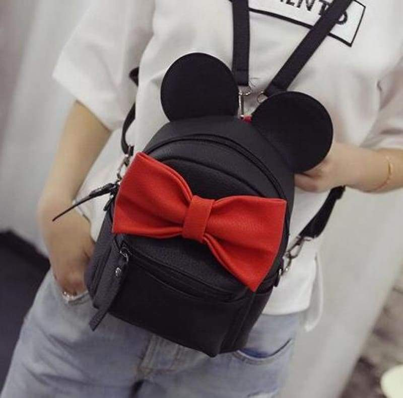 Adorable Minnie Backpack For Girls - Style 4 black - Backpacks