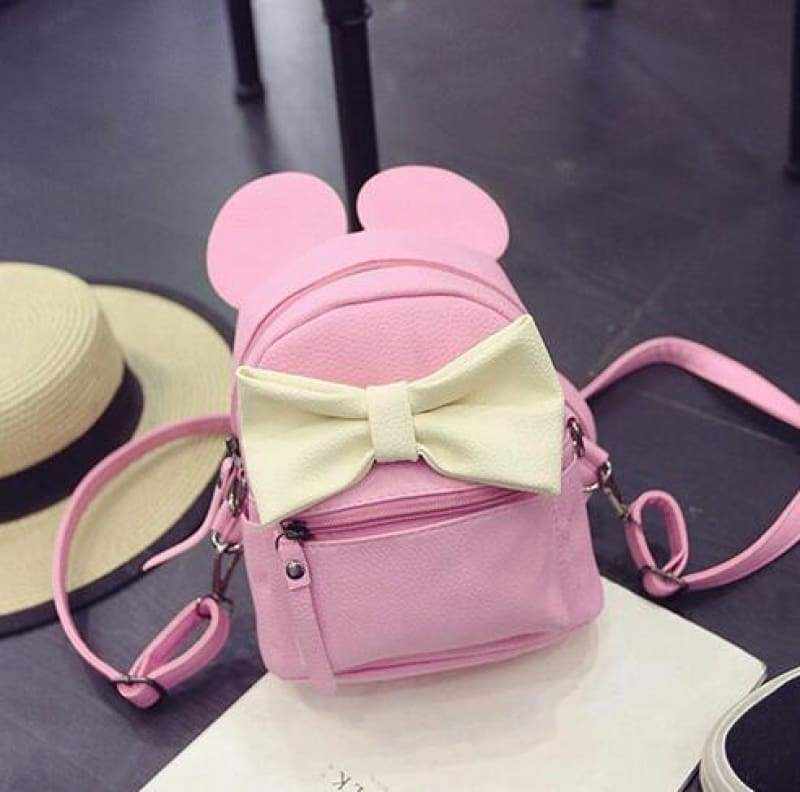 Adorable Minnie Backpack For Girls - Style 4 pink - Backpacks
