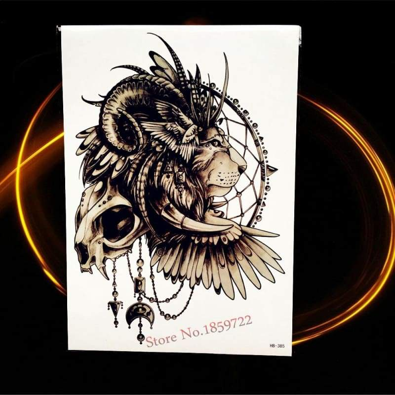Africa Serengeti Lion Temporary tattoo designs - HHB385 - Temporary Tattoos