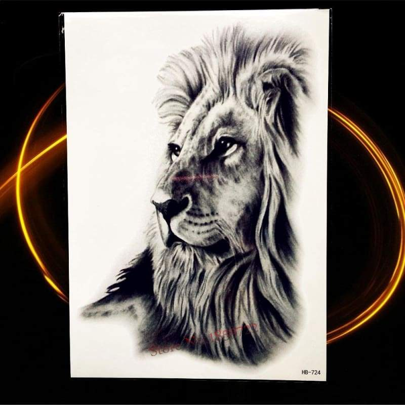 Africa Serengeti Lion Temporary tattoo designs - HHB724 - Temporary Tattoos
