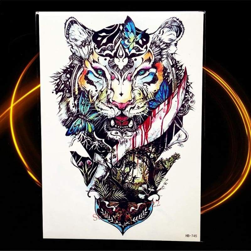 Africa Serengeti Lion Temporary tattoo designs - HHB745 - Temporary Tattoos