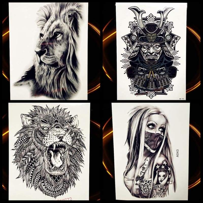 Africa Serengeti Lion Temporary tattoo designs - Temporary Tattoos
