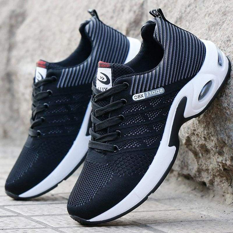 Air Mesh Breathable Sneakers - Black / 6.5 - Mens Vulcanize Shoes