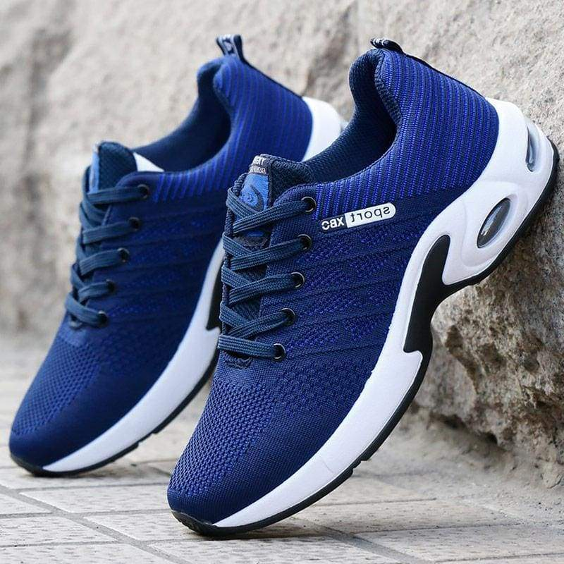 Air Mesh Breathable Sneakers - Blue / 6.5 - Mens Vulcanize Shoes