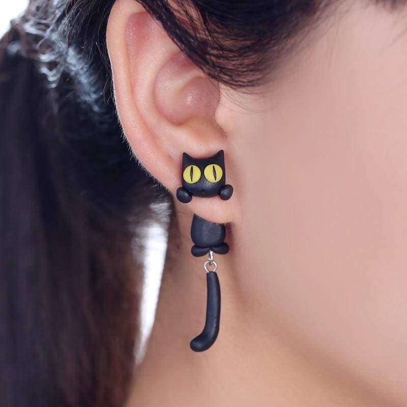 Amazing Eaton Cat Earrings - Stud Earrings
