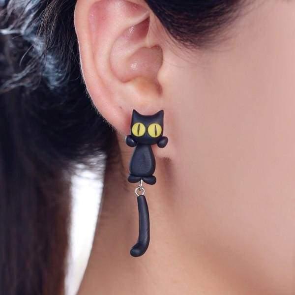 Amazing Eaton Cat Earrings - Stud Earrings
