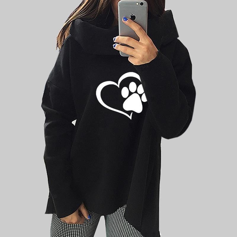 Amazing Heart Paw Sweatshirts - Black / XXL - Hoodies & Sweatshirts