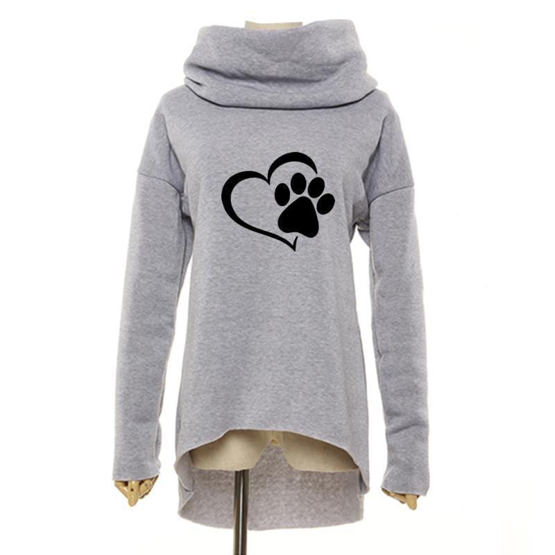 Amazing Heart Paw Sweatshirts - Gray / XXL - Hoodies & Sweatshirts