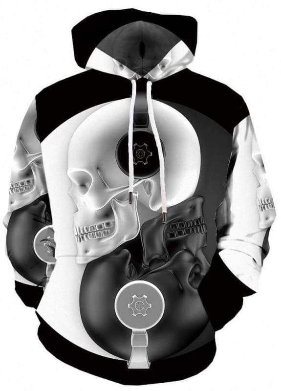 Amazing Skull Hoodies Mens & Women - 3d hoodies 02 / S - Hoodies & Sweatshirts