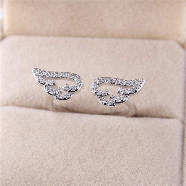 Angel Wings Ring Just For You - Resizable / White K - Rings