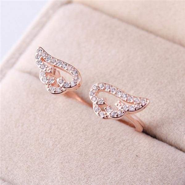 Angel Wings Ring Just For You - Resizable / Rose gold - Rings