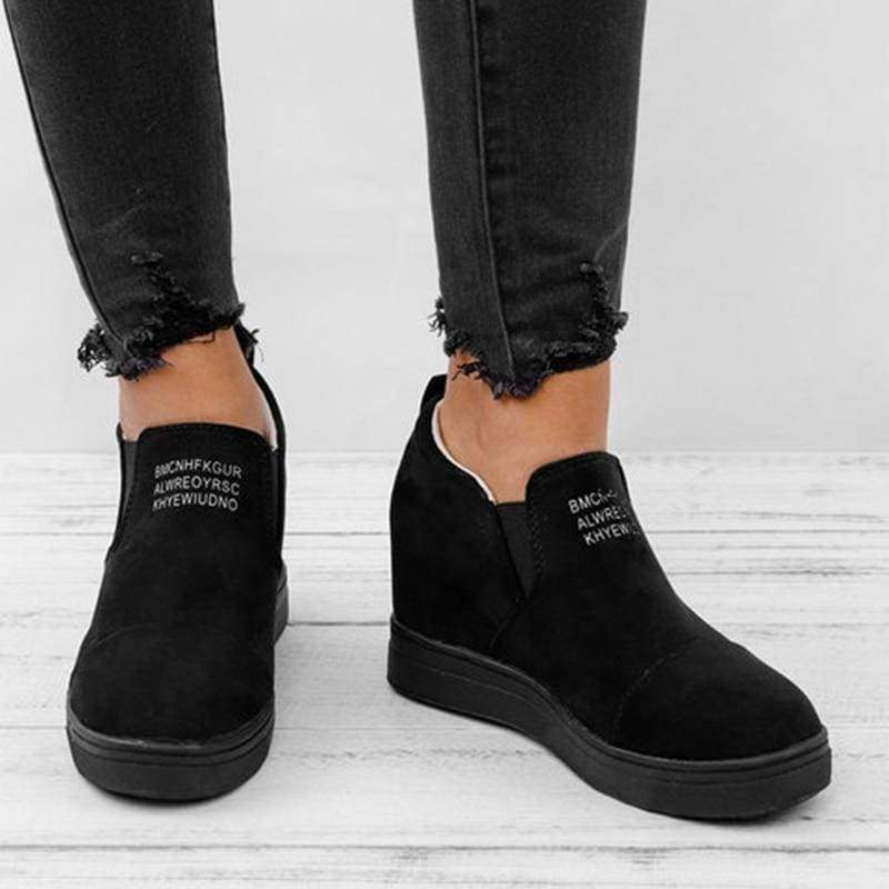 Ankle Short Suede Boots - black / 5 - Ankle Boots