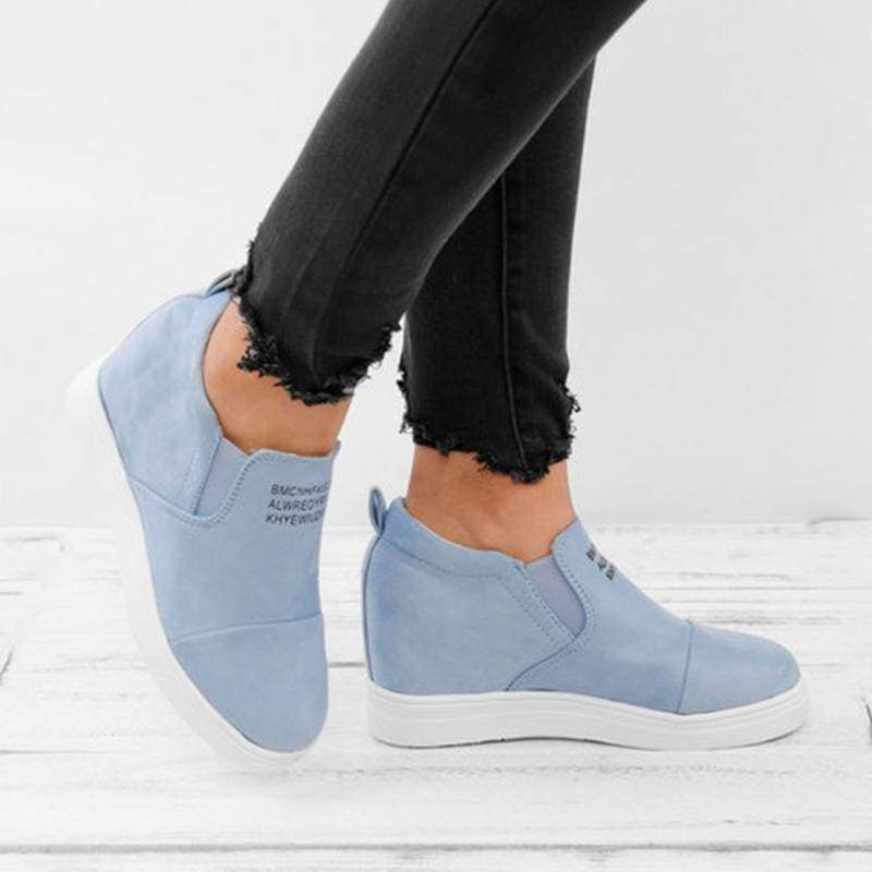 Ankle Short Suede Boots - blue / 5 - Ankle Boots