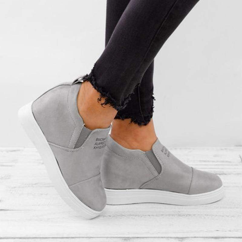 Ankle Short Suede Boots - grey / 5 - Ankle Boots