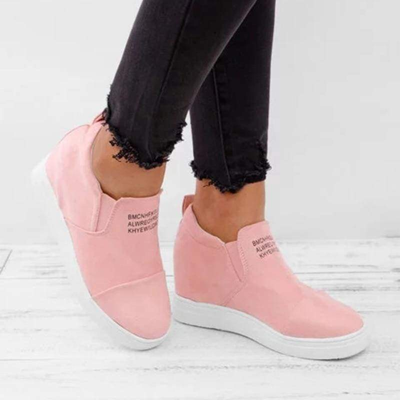 Ankle Short Suede Boots - pink / 5 - Ankle Boots