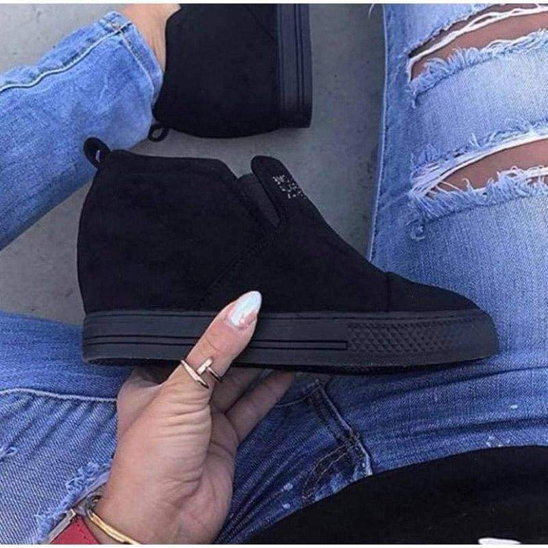 Ankle Short Suede Boots - Ankle Boots