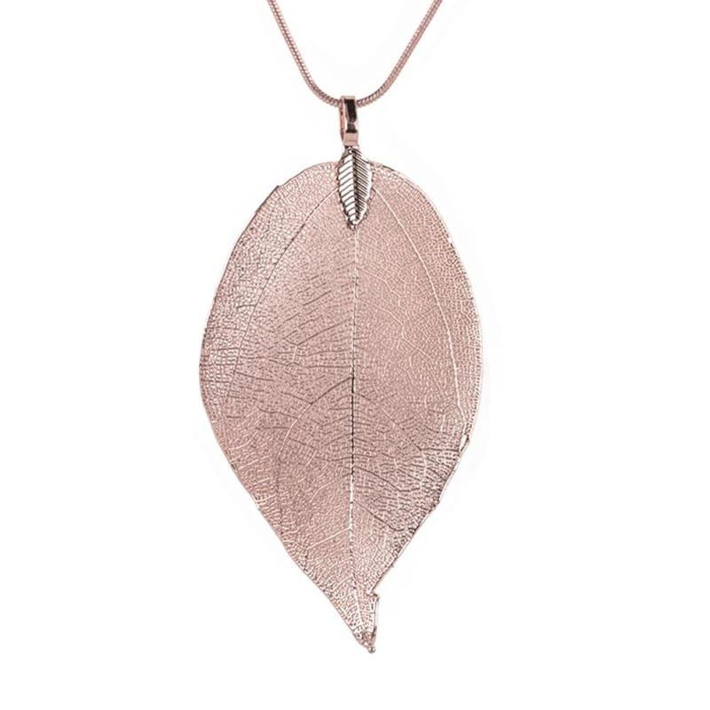 Autumn Leaves Pendant Necklace - Chain Necklaces