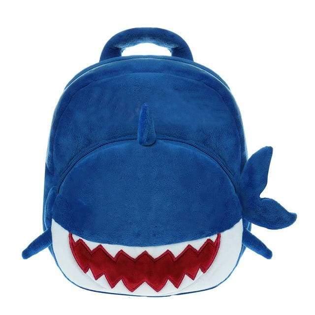Baby Shark Backpack For Toddler - Blue - Plush Backpacks