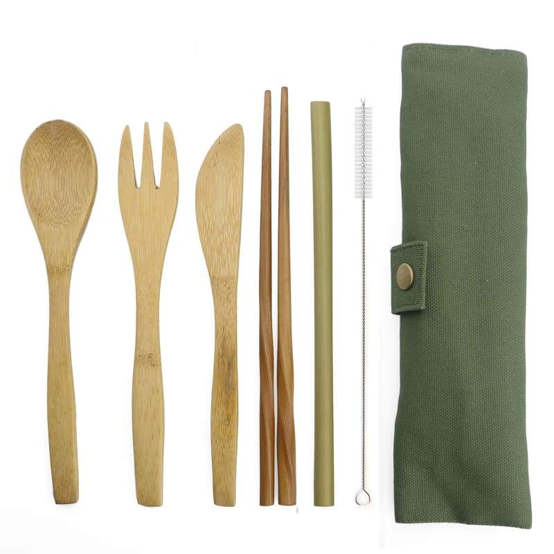 Bamboo tableware set - Army Green - Dinnerware Sets