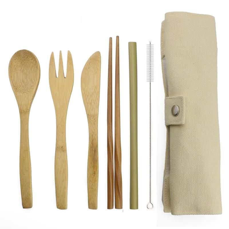 Bamboo tableware set - Beige - Dinnerware Sets