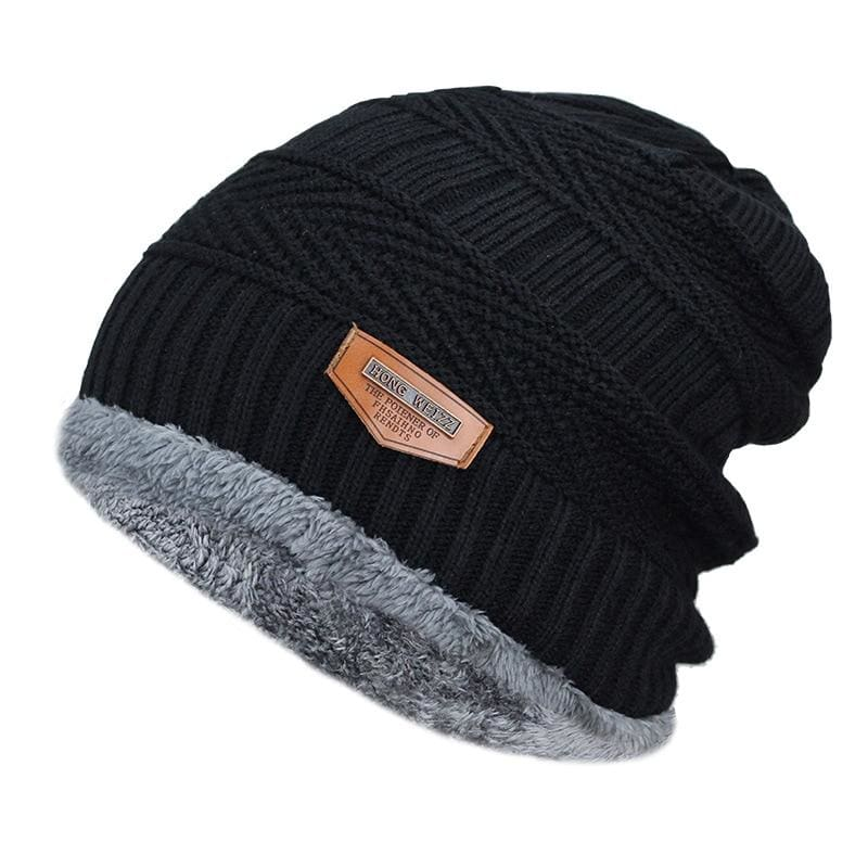 Beanies Knit Winter Cap For Man - Black 8 - Skullies & Beanies