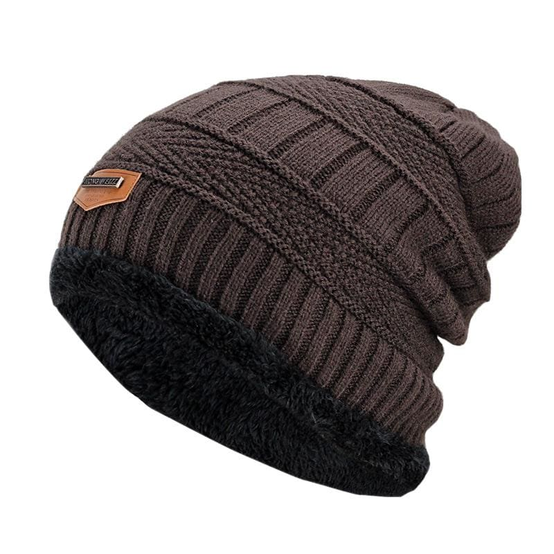 Beanies Knit Winter Cap For Man - Coffee 12 - Skullies & Beanies