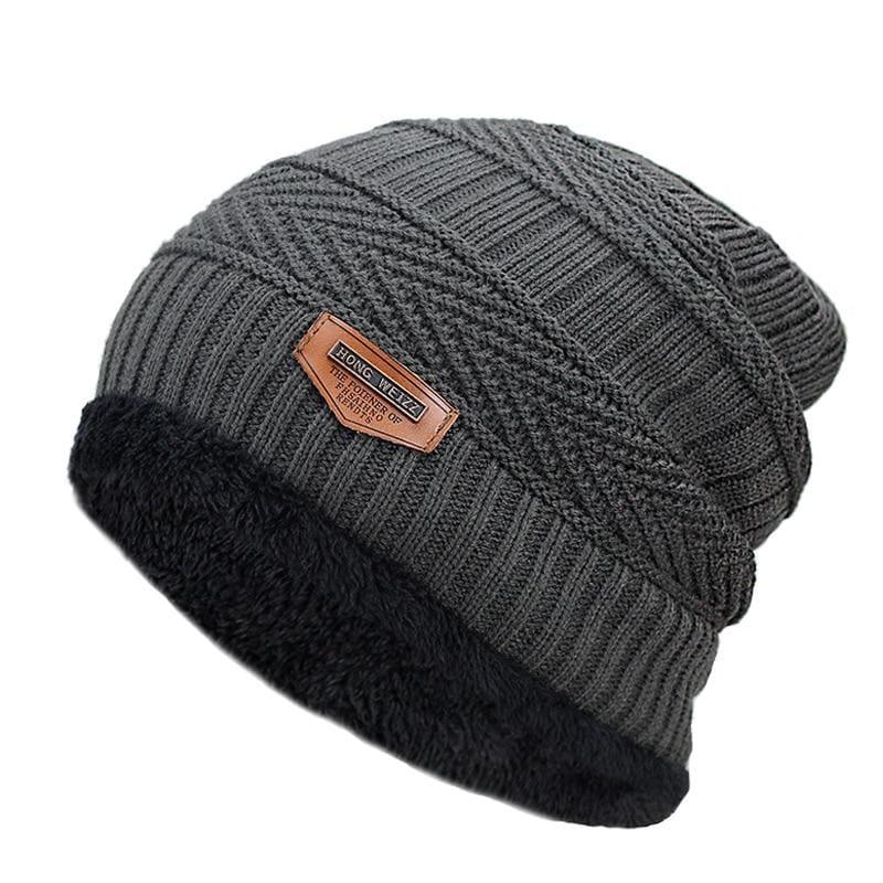 Beanies Knit Winter Cap For Man - Gray 10 - Skullies & Beanies
