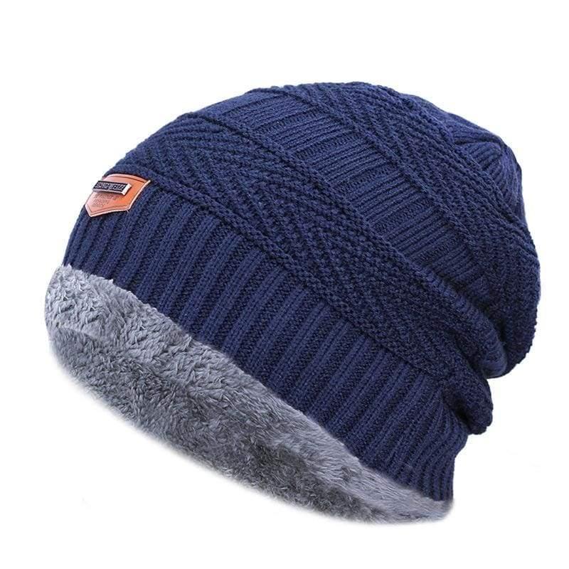 Beanies Knit Winter Cap For Man - Navy 11 - Skullies & Beanies