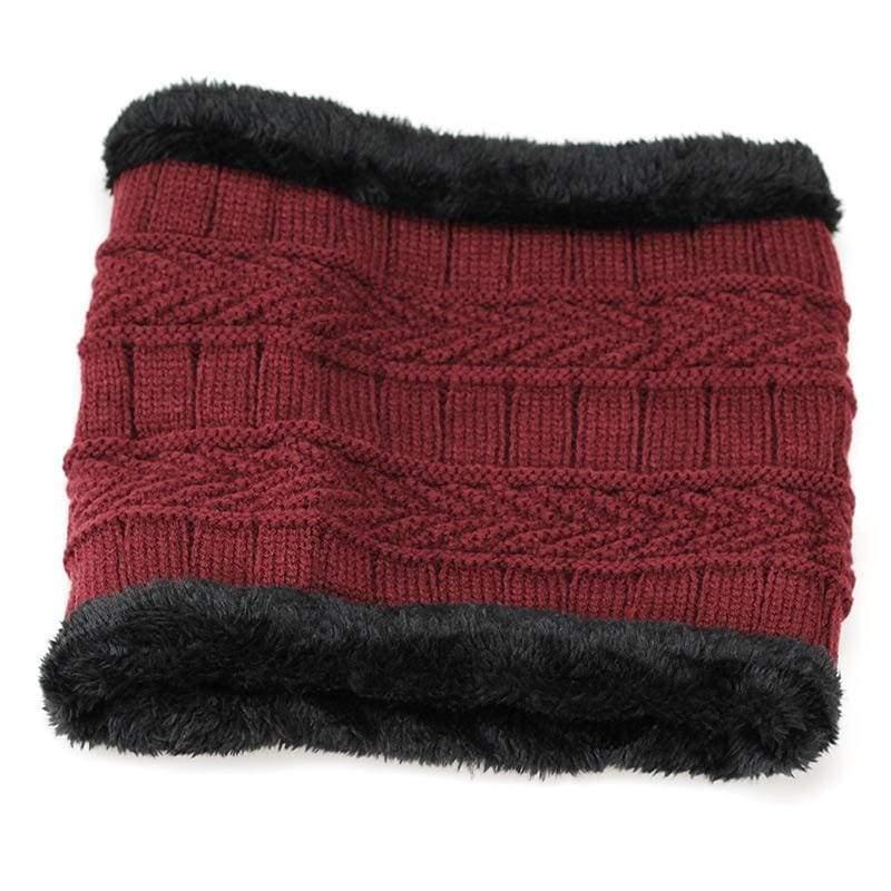Beanies Knit Winter Cap For Man - Wine 3 - Skullies & Beanies