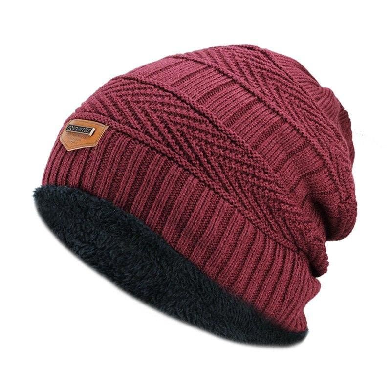 Beanies Knit Winter Cap For Man - Wine 9 - Skullies & Beanies