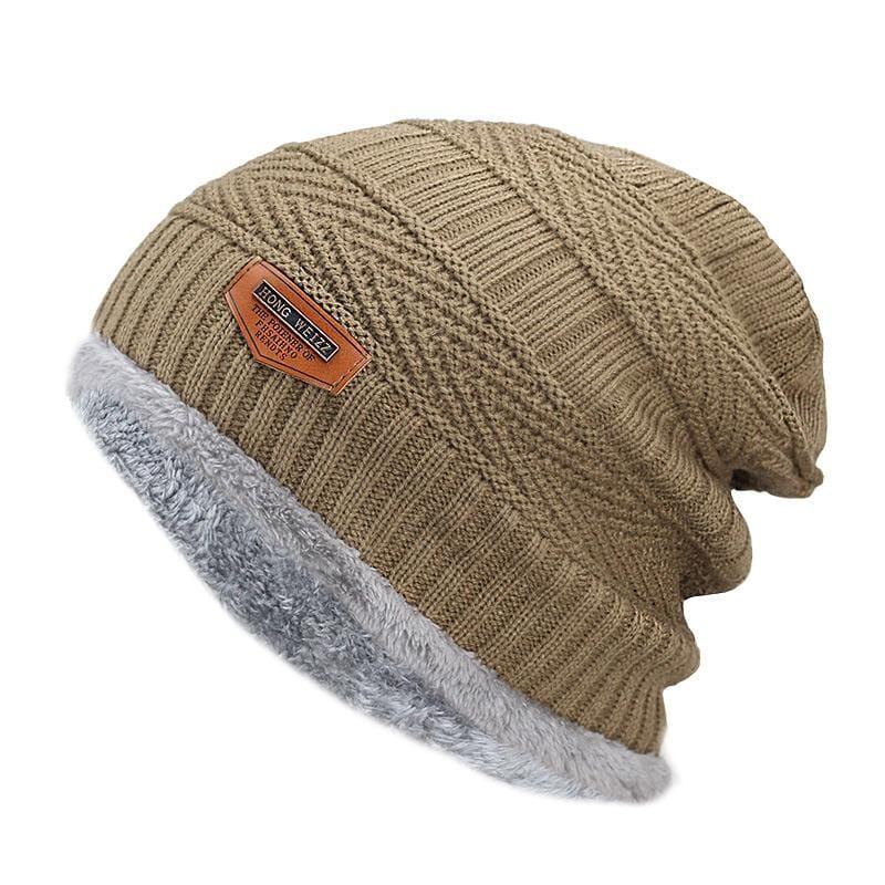 Beanies Knit Winter Cap For Man - yellow 1 - Skullies & Beanies