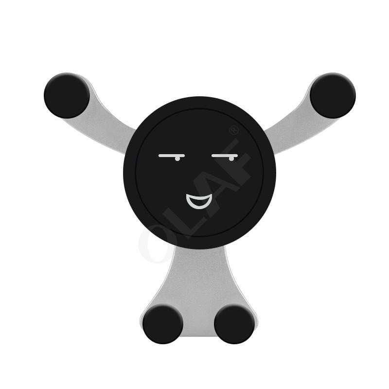 Bear Hug Car Phone Holder - Silver Smiley face - Mobile Phone Holders & Stands