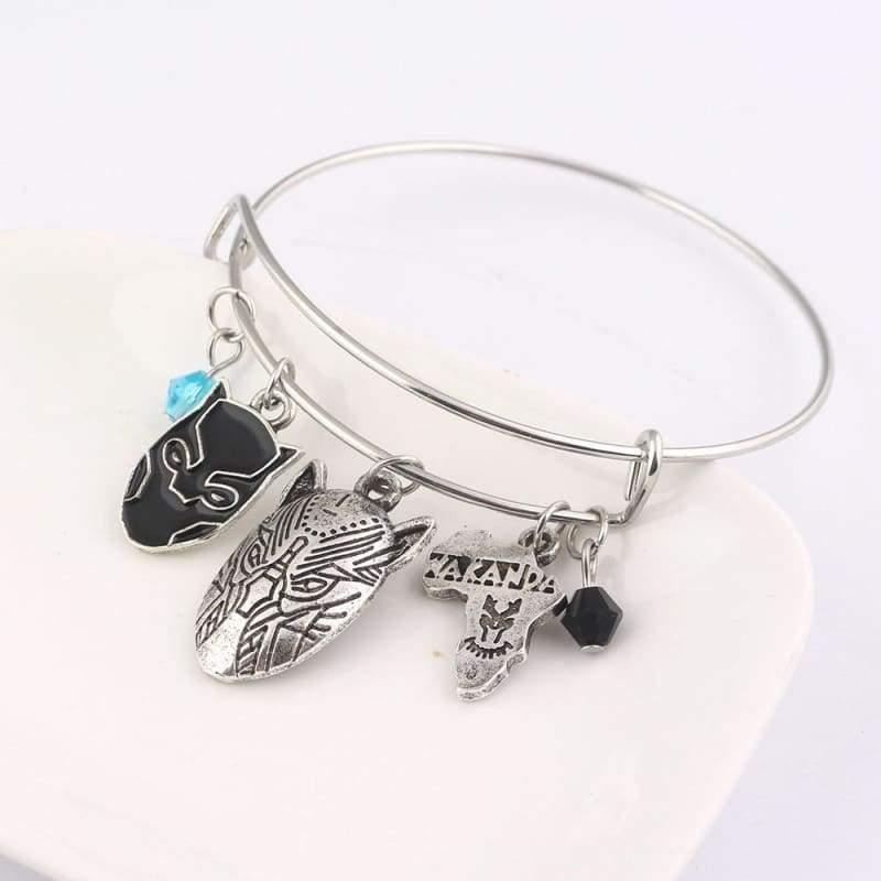 Black panther bracelet - B97 - Strand Bracelets