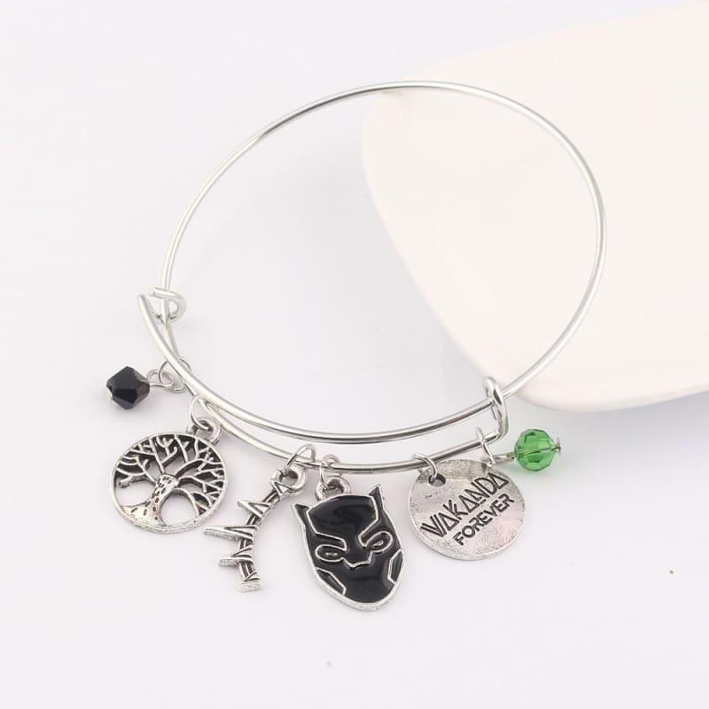 Black panther bracelet - B98 - Strand Bracelets