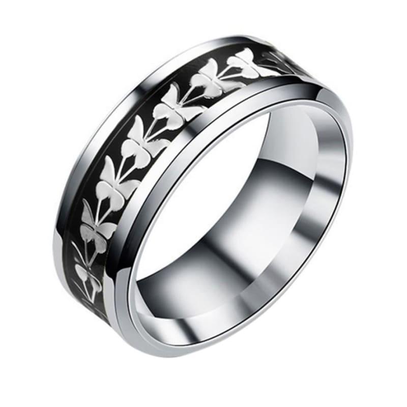 Bohemian Butterfly Totem Ring - 10 / Black - Rings
