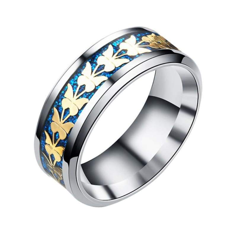 Bohemian Butterfly Totem Ring - 10 / Blue - Rings