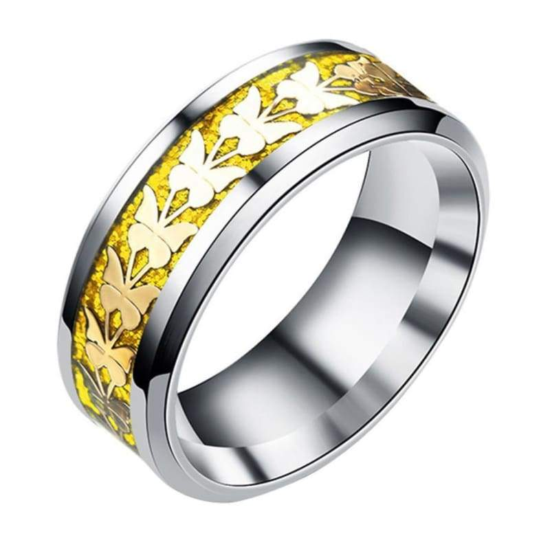 Bohemian Butterfly Totem Ring - 10 / Gold - Rings