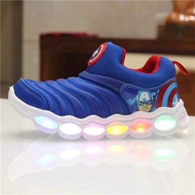 Boys and Girls Cartoon LED Sneaker Shoes High Quality Kids Led Shoes With Lights Sneaker Spring Autumn Children Toddler Baby Shoes