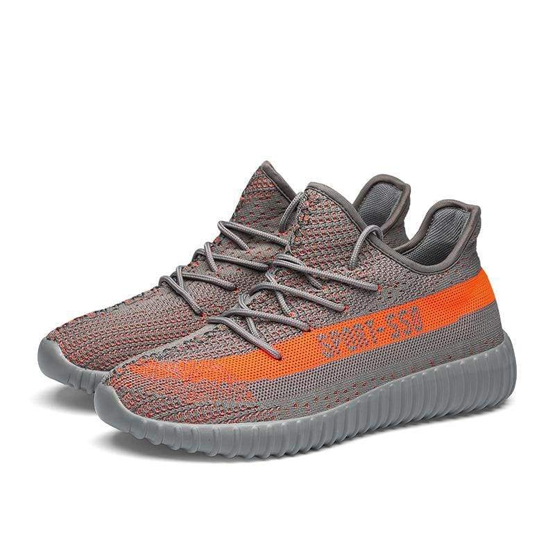 Breathable Mesh Couple Shoes Men and Women - Gray orange / 36 - Shoes Sneakers