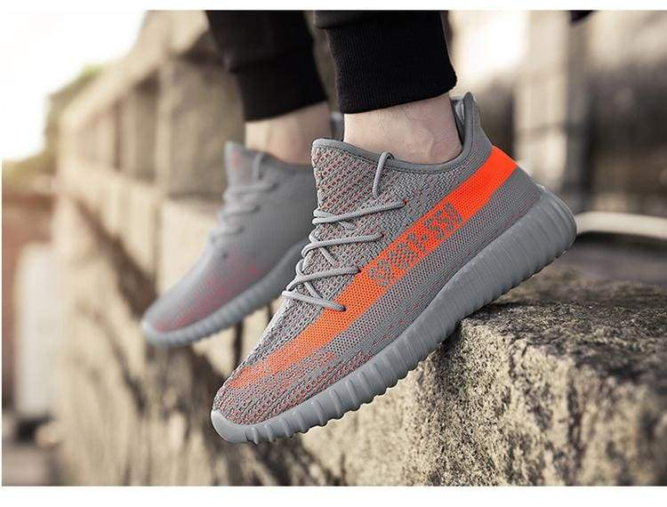 Breathable Mesh Couple Shoes Men and Women - Gray orange / 37 - Shoes Sneakers