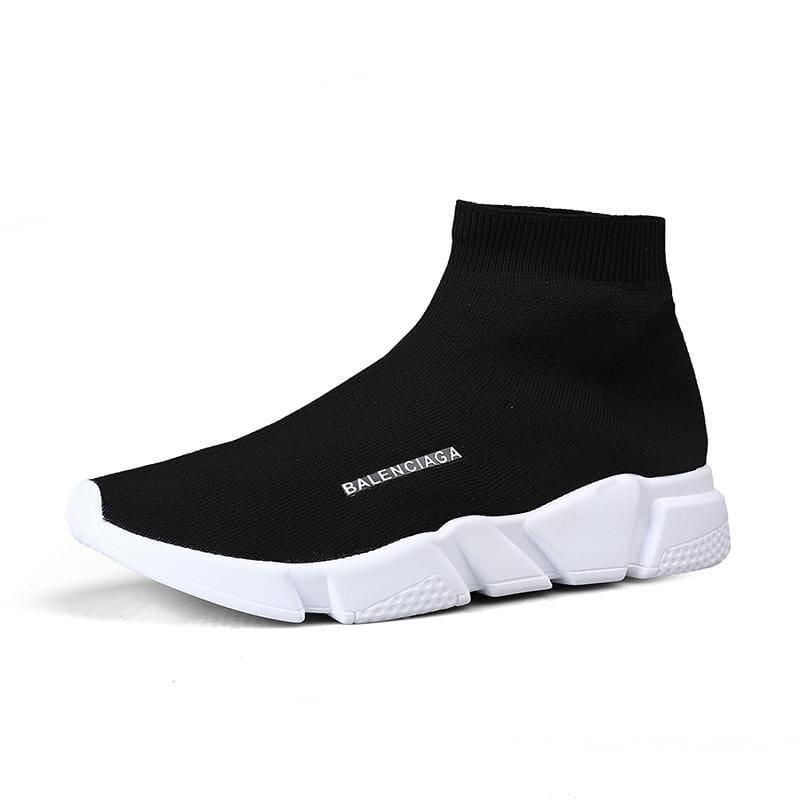 Breathable Mesh Couple Shoes Women and Men - Black white 927-1 / 37 - Shoes Sneakers