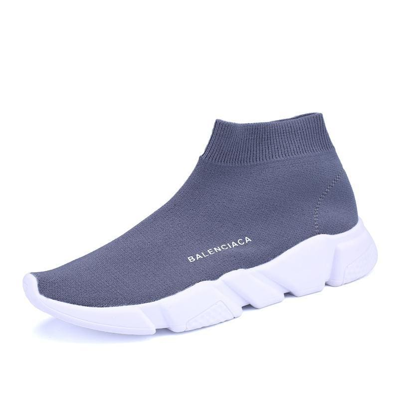 Breathable Mesh Couple Shoes Women and Men - Gray 8520 / 35 - Shoes Sneakers