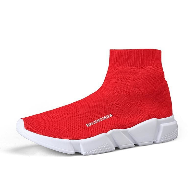 Breathable Mesh Couple Shoes Women and Men - Red 927-1 / 35 - Shoes Sneakers