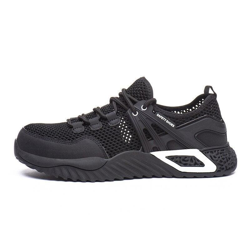 Men's Protective Shoes Breathable Safety Shoes Lightweight Drop-Proof Work Puncture-Proof Safety Boots Men's Casual Shoes - Big net black /