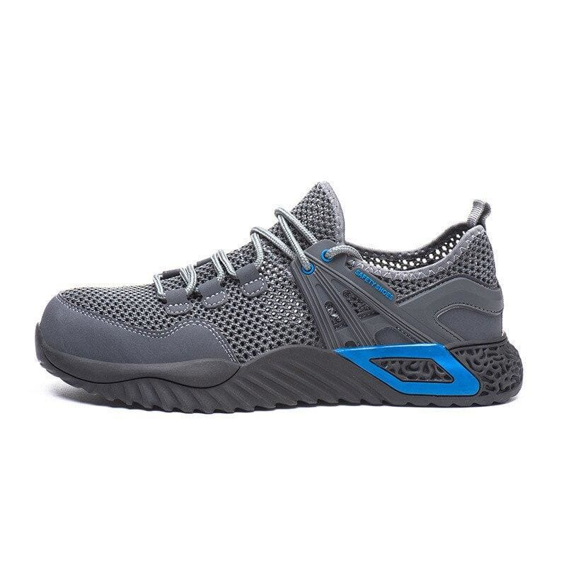 Men's Protective Shoes Breathable Safety Shoes Lightweight Drop-Proof Work Puncture-Proof Safety Boots Men's Casual Shoes - Big net gray /