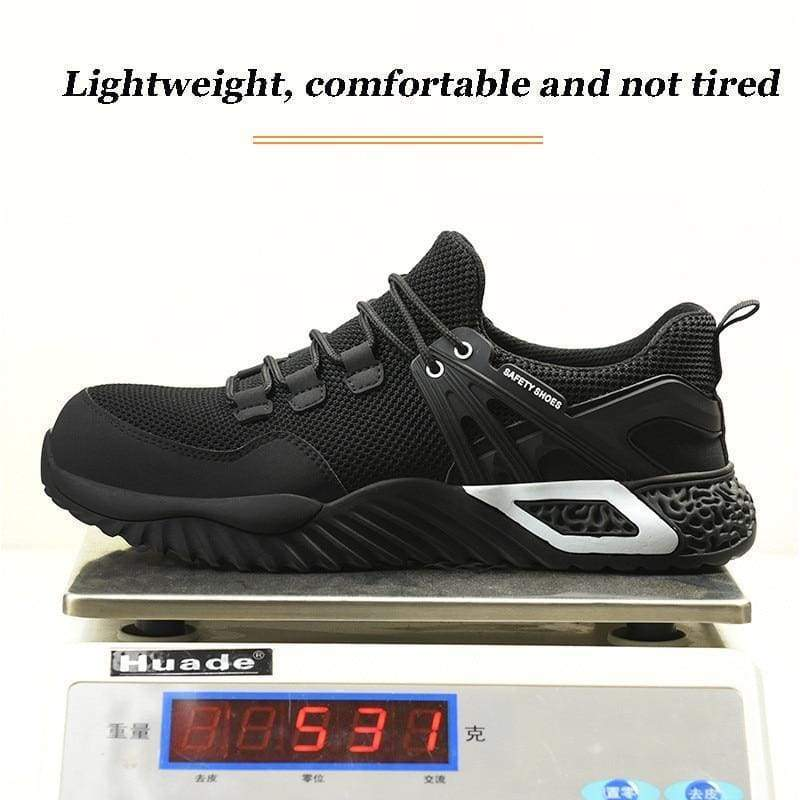 Men's Protective Shoes Breathable Safety Shoes Lightweight Drop-Proof Work Puncture-Proof Safety Boots Men's Casual Shoes