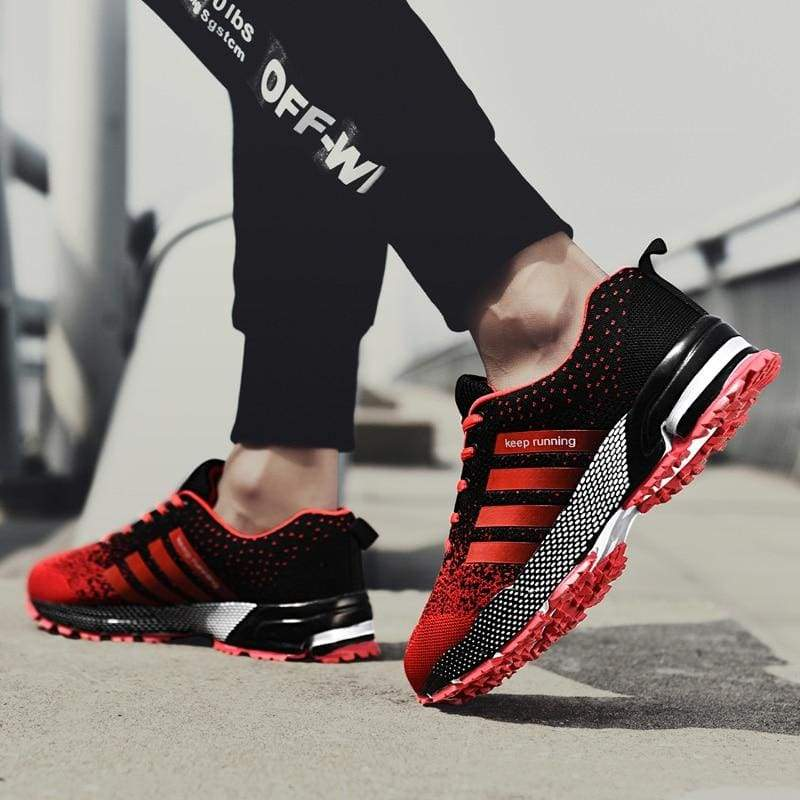 Breathable Shoes Casual - 8702Black-Red / 11.5 - Mens Casual Shoes