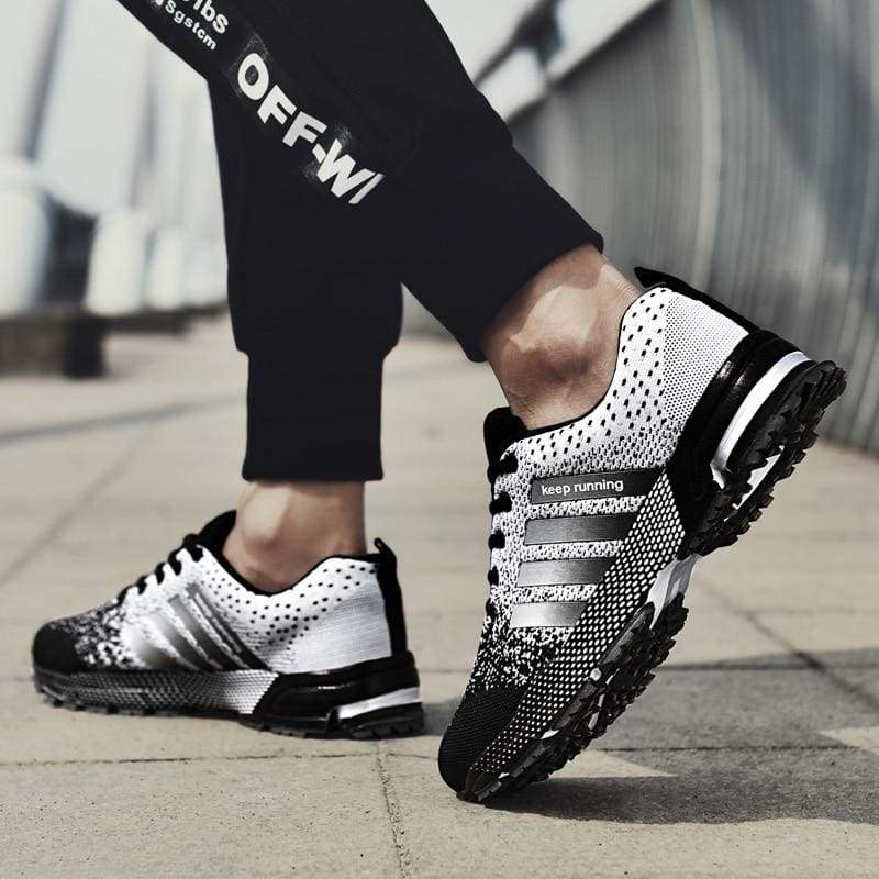 Breathable Shoes Casual - 8702Black-white / 7.5 - Mens Casual Shoes
