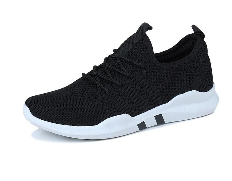Breathable Shoes Sneakers - Black and White / 4.5 - Mens Casual Shoes