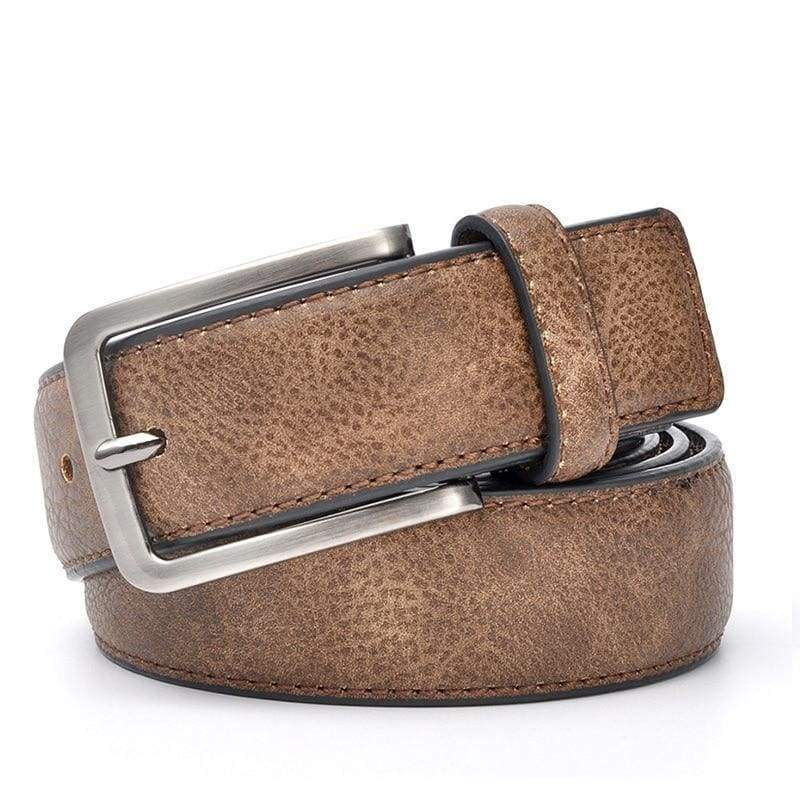 Casual Men Leather Belt - Brown / 100cm 32to35 Inch - Mens Belts